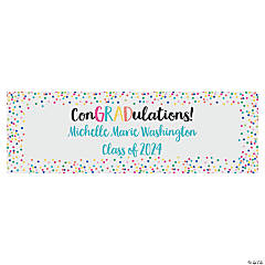ConGRADulations Graduation Custom Banner - Small