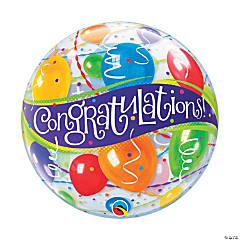 """Congrats 22"""" Latex Bubble Balloon"""
