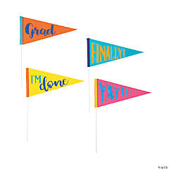 Congrats Girl Grad Party Pennant Flags - 12