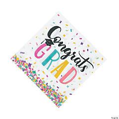Congrats Girl Graduation Party Luncheon Napkins