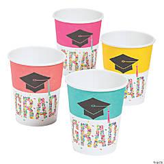 Congrats Girl Graduation Party Paper Cups