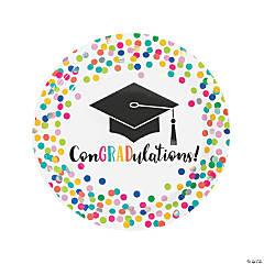 Congrats Girl Graduation Party Paper Dinner Plates