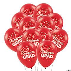 Congrats Grad Latex Balloons