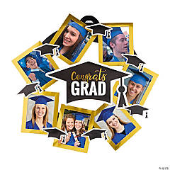 Congrats Grad Photo Door Wreath