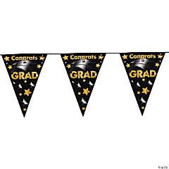 Congrats Grad Plastic Pennant Banner