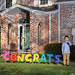 Congrats Letter Yard Signs
