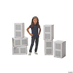 Construction 3D Cinder Block Stand-Ups
