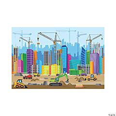 Construction VBS City Backdrop Banner