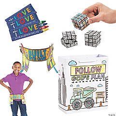Construction VBS On-the-Go Color Your Own Activities for 48