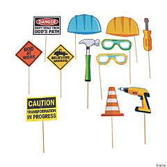 Construction VBS Photo Booth Props