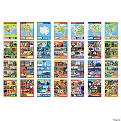 Continents Learning Charts