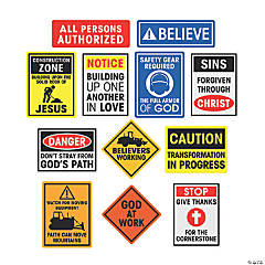Contsruction Sign VBS Cutouts