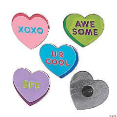 Conversation Heart Enamel Pins