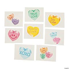 Conversation Heart Glitter Tattoos