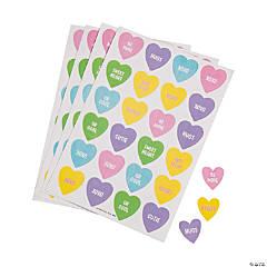 Conversation Heart-Scented Sticker Sheets