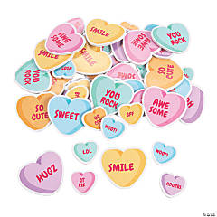 Conversation Heart Self-Adhesive Shapes
