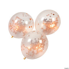 Copper Foil Confetti Latex Balloons