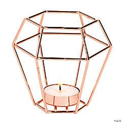Copper Geometric Tea Light Holders
