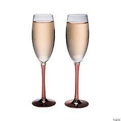 Copper Stem Champagne Flute Set