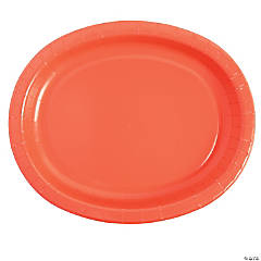 Coral Oval Dinner Plates