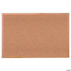 Cork Bulletin Board w/Wood Frame, 18