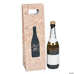 Cork Print Wine Bags