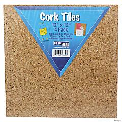 "Cork Tiles, 12"" x 12"", Set of 4"
