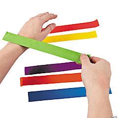 Cotton Bright Color Slap Bracelet Assortment