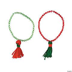 Cotton Christmas Tassel Bracelet Craft Kit