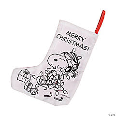 Cotton Color Your Own Peanuts® Christmas Stockings