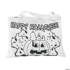 Cotton Color Your Own Peanuts® Halloween Tote Bags