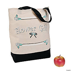 Cotton Flower Girl Tote Bag