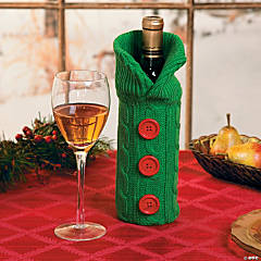 Cotton Green Sweater Bottle Bag