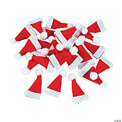Cotton Mini Santa Hats