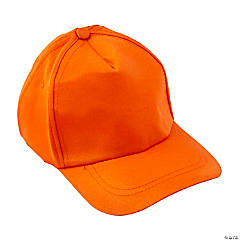 Cotton Orange Baseball Caps