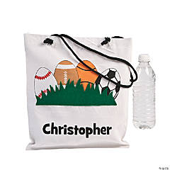 Cotton Personalized Boy's Easter Tote Bag