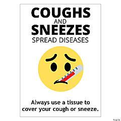 Cough & Sneeze Peel & Stick Decals