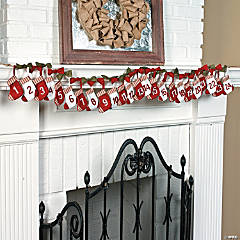 Countdown Stocking Garland