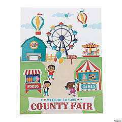 County Fair Carnival Sticker Scenes