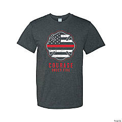 Courage Under Fire Firefighter Adult's T-Shirt - Large