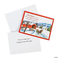 Covered Bridge Religious Christmas Cards