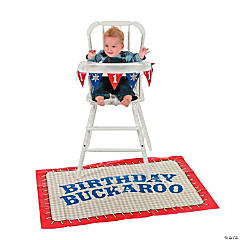 Cowboy 1st Birthday High Chair Decorating Kit