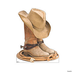 Cowboy Boots Cardboard Stand-Up