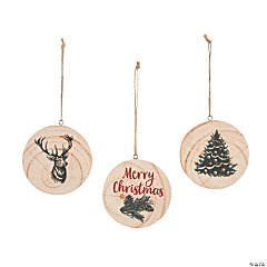 Cozy Classic Natural Wood Slice Ornaments