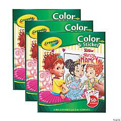 Crayola Color & Sticker Book, Fancy Nancy, Pack of 3