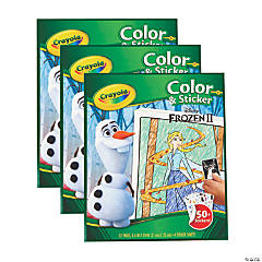 Crayola Color & Sticker Book, Frozen 2, Pack of 3