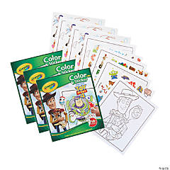Crayola Color & Sticker Book, Toy Story 4, Pack of 3