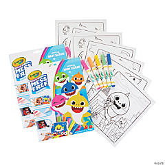 Crayola Color Wonder Mess Free Coloring Pad & Markers, Baby Shark, 2 Sets