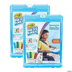 Crayola Color Wonder Mess Free Stow & Go Studio™ Travel Kit, 2 Kits