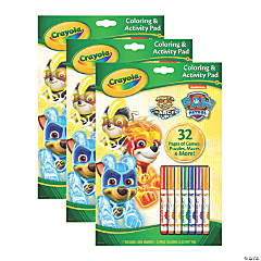 Crayola Coloring & Activity Pad with Markers, Paw Patrol
